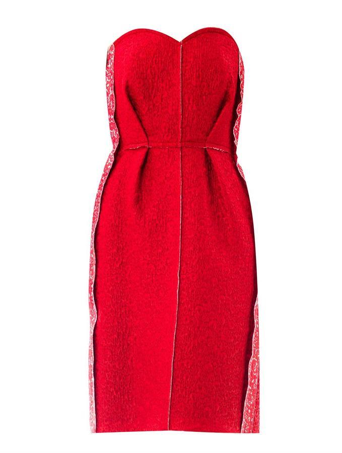 Lanvin Brocade strapless dress