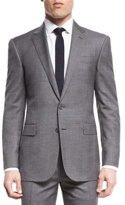 Ralph Lauren Anthony Two-Piece Sharkskin Suit, Light Gray