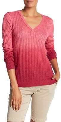 Tommy Bahama Cascade Dip Dye V-Neck Sweater