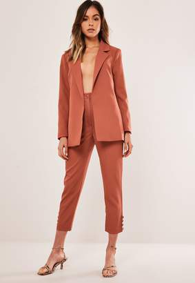 Missguided Petite Rust Co Ord Basic Cigarette Trousers