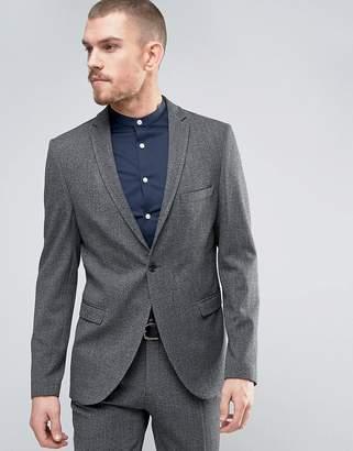 Selected Slim Suit Jacket In Salt n Pepper