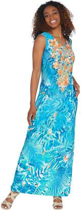 Linea By Louis Dell'olio by Louis Dell'Olio Petite Island Floral Maxi Dress