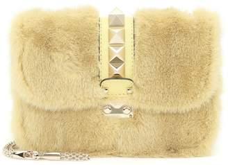 Valentino Lock Small mink shoulder bag