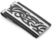 Lotus Two-Tone Stainless Steel Money Clip