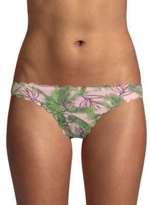Pilyq Botanical-Print Bikini Bottom