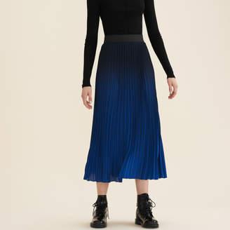 Maje Pleated tie-dye skirt