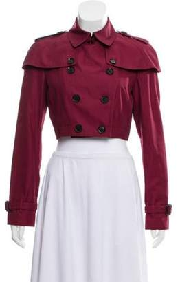 Burberry Cropped Double-Breasted Jacket Red Cropped Double-Breasted Jacket