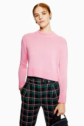 Topshop Ottoman Cropped Jumper With Cashmere