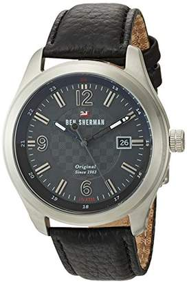 Ben Sherman Men's 'The Sugarman Social' Quartz Stainless Steel and Leather Casual Watch