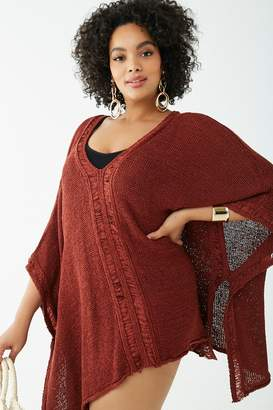 accfd1d434 Forever 21 Plus Size Crochet Kaftan Swim Cover-Up