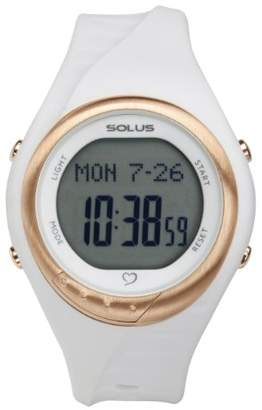 Solus Unisex Digital Watch with LCD Dial Digital Display and White Plastic or PU Strap SL-300-002