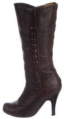 Lanvin Mid-Calf Leather Boots