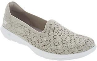 Skechers Go Walk Lite Knit Slip On Shoes- Daisy