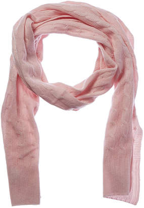 Qi 100% Cashmere Cable Knit Scarf