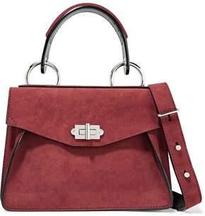 Proenza Schouler Hava Small Leather-Trimmed Nubuck Shoulder Bag