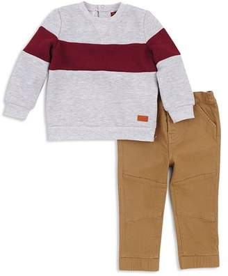 7 For All Mankind Boys' Fleece Sweatshirt & Twill Jogger Pants Set - Baby