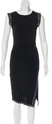 MICHAEL Michael Kors Sleeveless Studded Uneven Hem Midi Dress