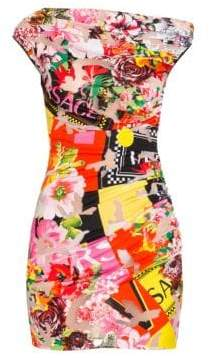 Versace Floral Mania Stretch Jersey Devore Dress