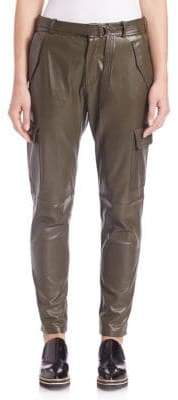 SET Leather Cargo Pants