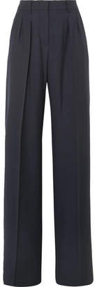 Max Mara Liuto Wool Wide-leg Pants - Navy