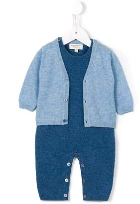 Cashmirino Knitted cardigan and romper set