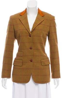 Beretta Plaid Wool Blazer