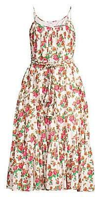 Rhode Resort Women's Lea Floral Cotton Midi Dress