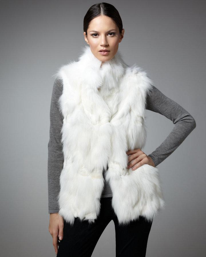 Jocelyn Sectioned Fox Vest