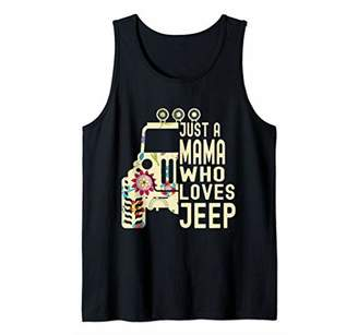 Cute Flower Jeeps Just A Mama Who Loves Jeeps Women/Kid Tank Top