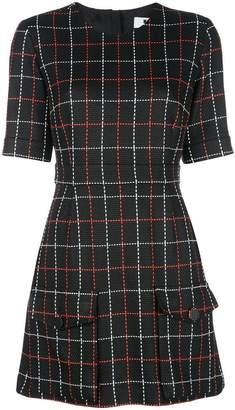 MSGM stitch check short dress
