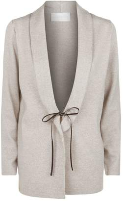 Fabiana Filippi Leather Close Cardigan