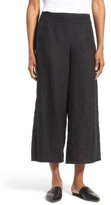 Women's Eileen Fisher Organic Linen Crop Wide Leg Pants $178 thestylecure.com