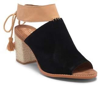 Toms Seville Suede Block Heel Mule Sandal