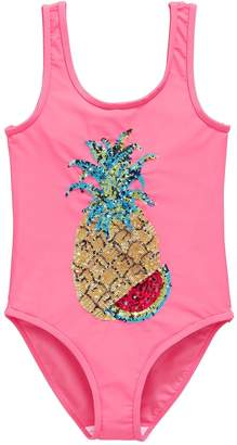 Very Sequin Pineapple Swimsuit - Pink