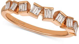 LeVian Le Vian Baguette Frenzy Diamond Baguette Ring (1/4 ct. t.w.) in 14k Rose Gold