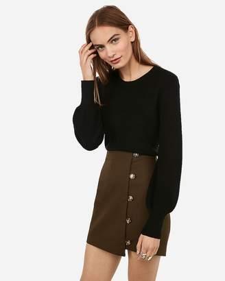 Express Shaker Knit Balloon Sleeve Sweater