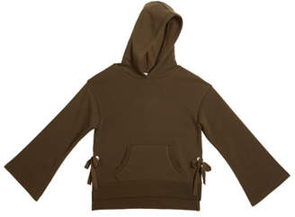 Habitual Skylar Relaxed Fleece Hoodie w/ Side Ties, Size 7-14