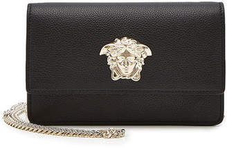 Versace Medusa Head Leather Clutch with Chain