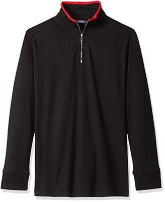 ROBUST Men's High Neck Full Sleeve Zipper T-Shirt (Size-)