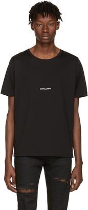 Saint Laurent Black 'Saint Laurent' T-Shirt $350 thestylecure.com