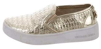 MICHAEL Michael Kors Girls' Metallic Slip-On Sneakers