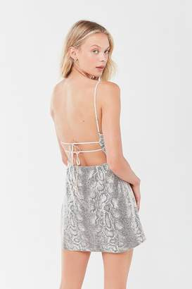 Urban Outfitters Textured Snake Mini Dress
