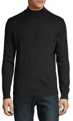 Black & Brown Black Brown Merino Wool Mockneck Sweater