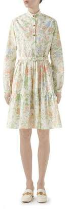 Gucci Broderie Anglaise Babydoll Shirtdress