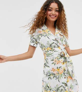 Miss Selfridge Petite utility dress in tropical print