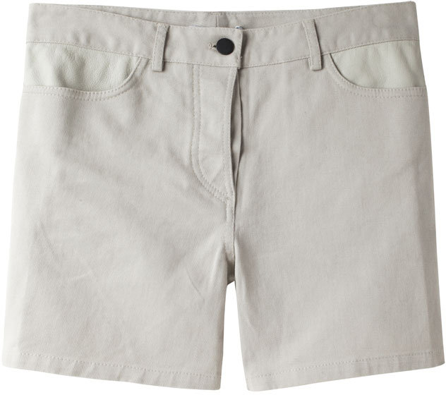 T by Alexander Wang / Leather Yoke Short