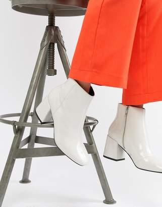 Asos Design DESIGN Rural Patent Ankle Boots