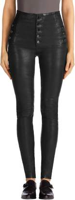 J Brand Natasha High Waist Skinny Leather Pants
