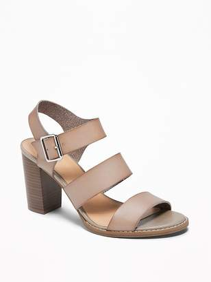 Old Navy Three-Strap Block-Heel Sandals for Women