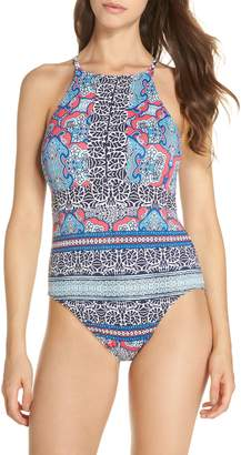 Tommy Bahama Riviera Tiles Reversible One-Piece Swimsuit
